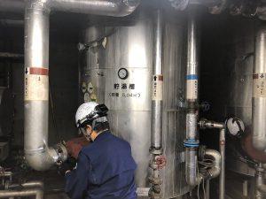 安城市レジャープールの貯湯槽の修繕