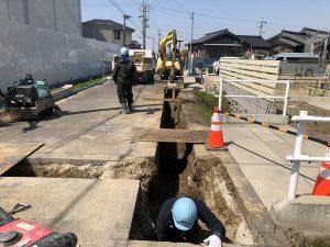 篠目水道工事