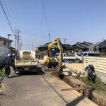 安城市篠目町で水道施設工事を行ってます