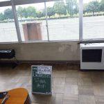 小学校のストーブを撤去しています