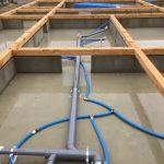 木造住宅の床下配管を行いました