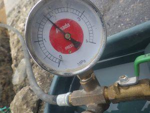 水圧検査中部学校給食