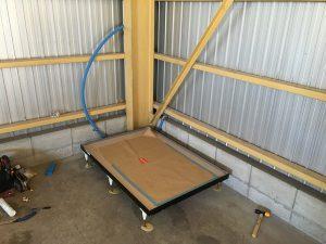 倉庫内水栓トイレ設置