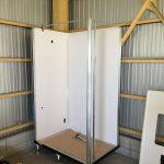 倉庫内に水洗トイレを設置しました
